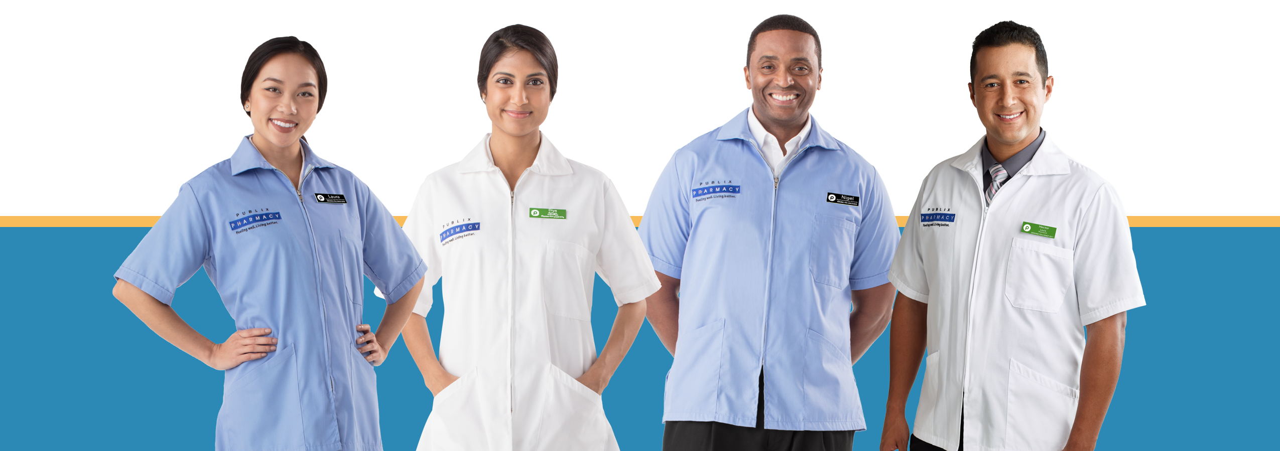 Picture of four Publix Pharmacy associates
